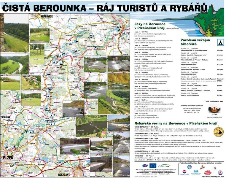 Kempy Berounka Mapa Vodacke Taboriste Liblin Na Strelnici Berounka